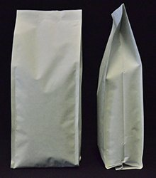 1Kg Side Gusset Bag (Quad Seal) - White Kraft Paper
