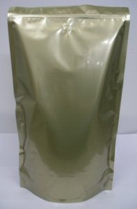3Kg Stand Up Pouch Coffee Bags with Valve and Zip - Solid Gold
