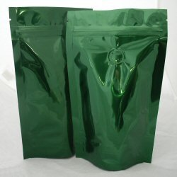 150g Stand up Pouch Coffee Bags with Valve and Zip - Solid Green
