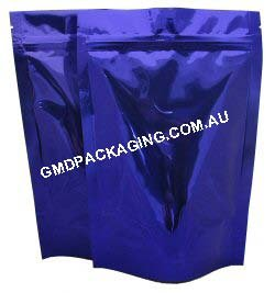 250g Stand Up Pouch with Zip - Solid Blue