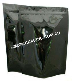 1Kg Stand Up Pouch with Zip - Solid Black