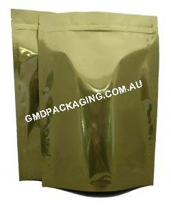 1Kg Stand Up Pouch with Zip - Solid Gold