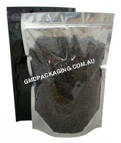 1Kg Stand Up Pouch with Zip - Clear/Black