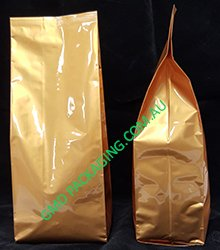 250g Side Gusset Bag - Gold