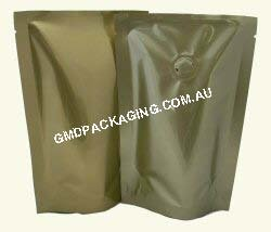 70g Stand Up Pouch Coffee Bags with Valve - Solid Gold