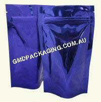 100g Stand Up Pouch with Zip - Solid Blue