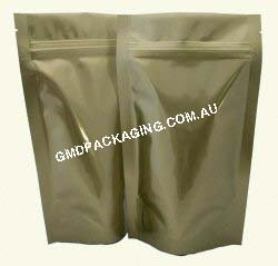 150g Stand Up Pouch with Zip - Solid Gold