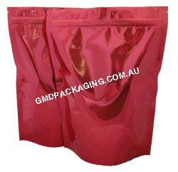 1Kg Stand Up Pouch with Zip - Solid Red
