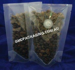 70g Stand Up Pouch Coffee Bags with Valve - All Clear