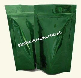 150g Stand Up Pouch with Zip - Solid Green
