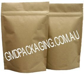 250g Stand up Pouch with Zip - All Kraft Paper