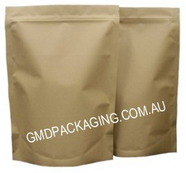 1Kg Stand Up Pouch with Zip - All Kraft Paper