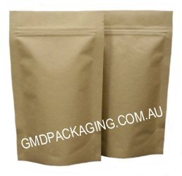 100g Stand Up Pouch with Zip - All Kraft Paper