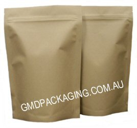 750g Stand Up Pouch Coffee Bags with Zip - All Kraft Paper