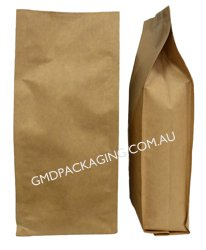 1Kg Side Gusset Bag (Quad Seal) - Kraft Paper