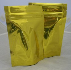 70g Stand Up Pouch with Zip - Solid Gold (Bright)